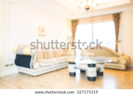 Abstract blur livingroom interior background