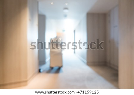 Abstract blur luxury hotel lobby interior for background