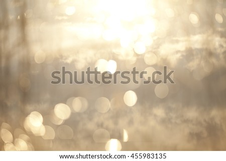 Abstract Blur of Sea Shore Shot in Manual Mode with Bokeh - stock photo