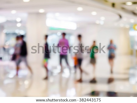 abstract blur people in the shopping mall - stock photo