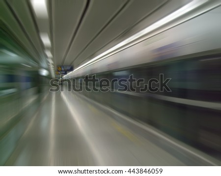 Abstract blured metro station - stock photo
