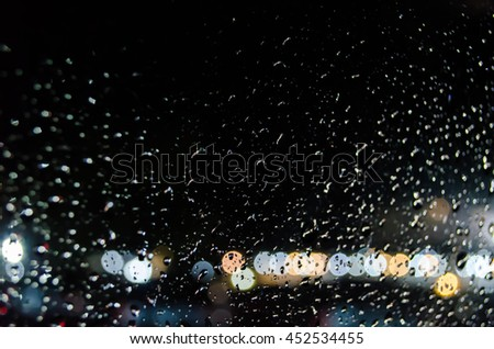 abstract blurred and rain drop glister bulbs lights background. Blur background. blur image.