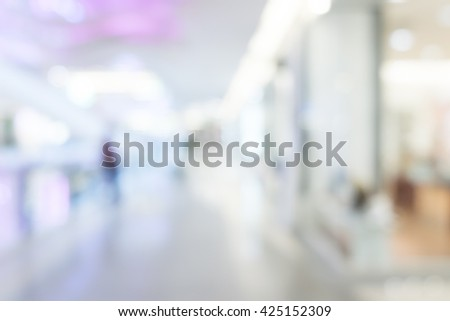 abstract Blurred background :Customer shopping at department store with bokeh light. - stock photo