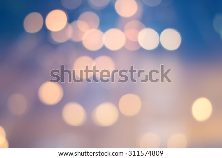 abstract blurred backgrounds of twilight backdrop with circle lights in pastel tone - stock photo