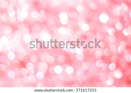 abstract blurred beautiful soft pink background:blurry glittering sparkle wallpaper with white bokeh circle light:blur valentine's day backdrop concept:lovely flash shining display for banner,template - stock photo