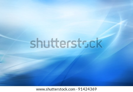 abstract blurred blue background with different shades of color - stock photo