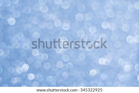 Abstract blurred blue light spot bokeh background