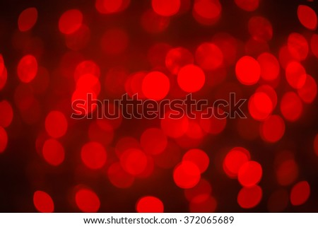 Abstract blurred bokeh red light