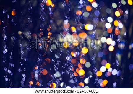 abstract blurred festive lights background - stock photo