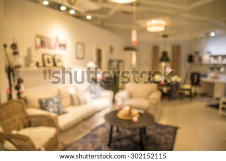 Abstract blurred furniture home decor store background. Furniture Store Stock Images  Royalty Free Images   Vectors