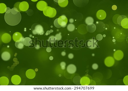 Abstract blurred green circles background