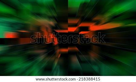 Abstract blurred green, red,  background (16:9 aspect)