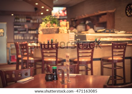 Sushi Bar Interior Stock Images Royalty Free Images Vectors Shutterstock