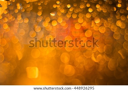 abstract Blurred light and rain drop Background  - stock photo
