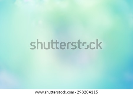 abstract blurred lights Mint color background - stock photo