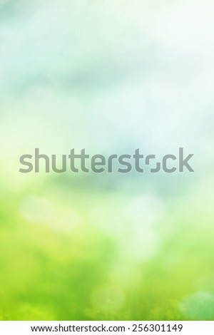 Abstract blurred natural bokeh background - stock photo