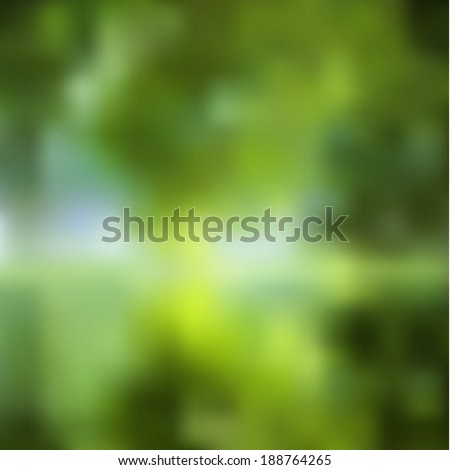 Abstract blurred nature background. Green lake. - stock photo