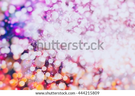 abstract blurred of blue and silver glittering shine bulbs lights background:blur of Christmas wallpaper decorations concept.xmas holiday festival backdrop:sparkle circle lit celebrations display. - stock photo