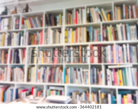 Abstract blurred of Library