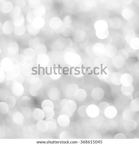 abstract blurred of white/silver/bronze glittering shine bulb lights background:blur of Christmas day wallpaper decoration concept.xmas design festival backdrop:square frame display picture. - stock photo