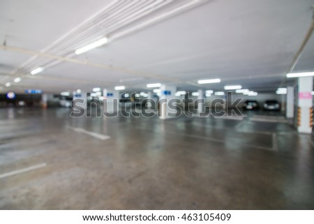 Abstract Blurred, Parking with Cars.