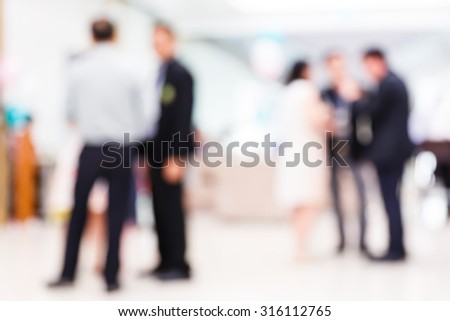 Abstract blurred people in party, sociability lifestyle concept - stock photo