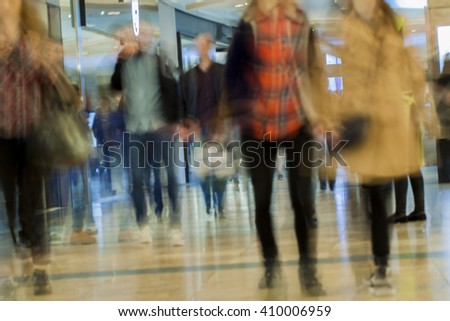 Abstract blurred shopping mall for background