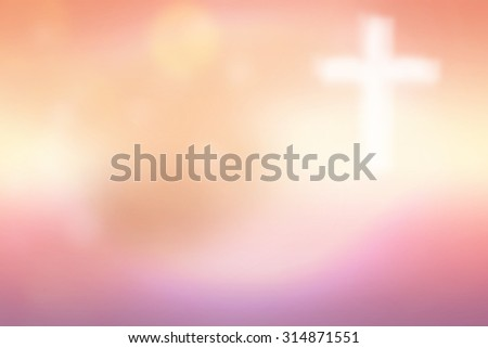 Abstract blurred textured background with cross - stock photo