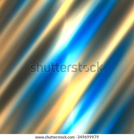 Abstract blurred white blue colored lines. Motion blur lines. Bright lights glow. Cold colour sample. Nice vibrant beams. Wavy satin wallpaper. Funky abstract design. Vivid illuminated pic. Picture. - stock photo