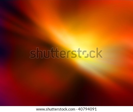 Abstract blurry background in orange tones that looks like explosion.