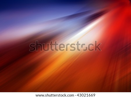 Abstract blurry background in red and blue tones. - stock photo