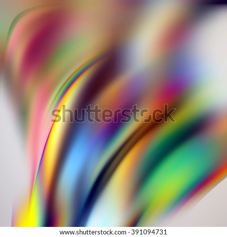 abstract blurry background, modern vivid rainbow wallpaper, 3d illustration - stock photo