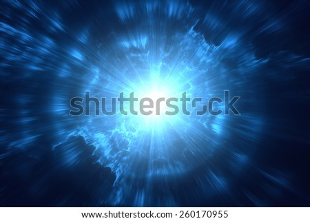 Abstract blurry explosion background - stock photo