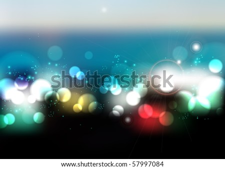 Abstract Blurry Lights - stock photo