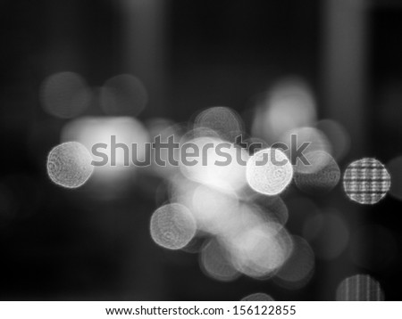 Abstract bokeh background / black and white image - stock photo