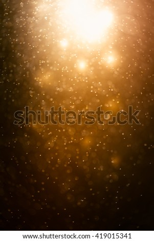 Abstract bokeh background,gold color - stock photo
