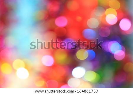 Abstract bokeh background of Christmas light  - stock photo