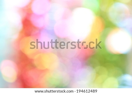 Abstract bokeh background of Christmas light - stock photo