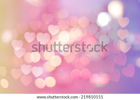 Abstract  bokeh background of Christmas light on bright colors style. - stock photo