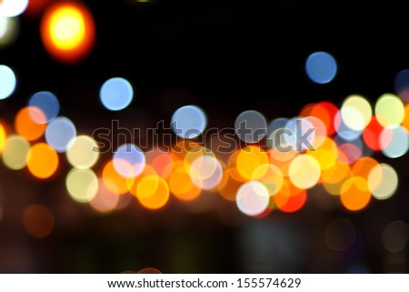 Abstract bokeh background of Christmaslight - stock photo