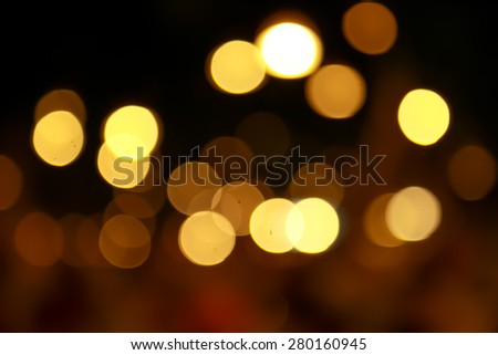 Abstract bokeh background of city light