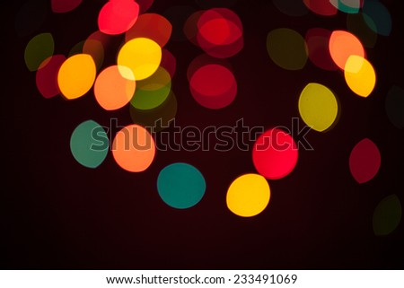 abstract bokeh background of city night