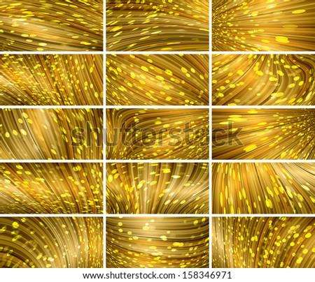 abstract bokeh background set - stock photo