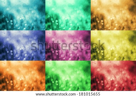 Abstract bokeh background with various colors - stock photo