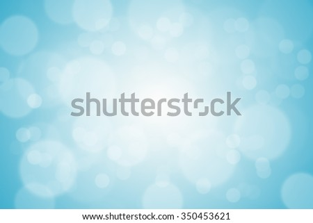 Abstract bokeh blue light blur design for background