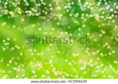 Abstract bokeh green background