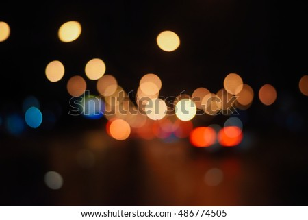 Abstract bokeh light background on The Road