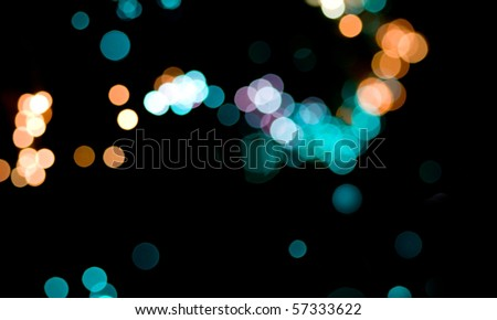 abstract bokeh lights - stock photo