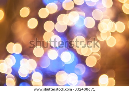 Abstract bokeh lights. defocused background - stock photo