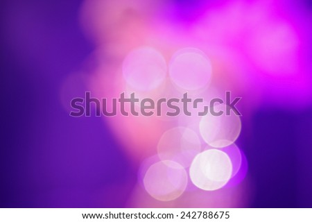 abstract bokeh of light on pink and blue color - stock photo